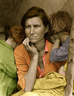 Migrant Mother With Color